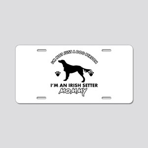 Irish Setter dog breed design Aluminum License Pla