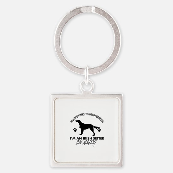 Irish Setter dog breed design Square Keychain