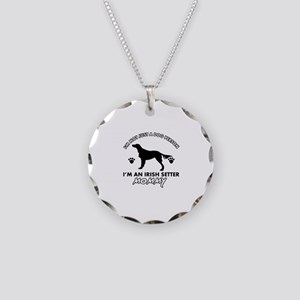 Irish Setter dog breed design Necklace Circle Char