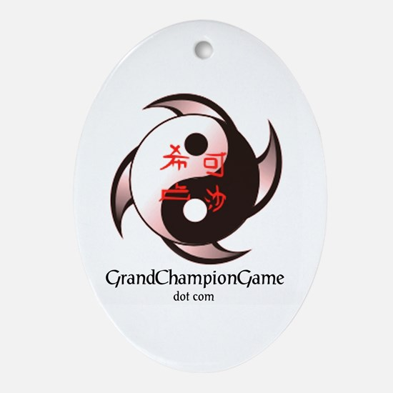Grand Championc Oval Ornament