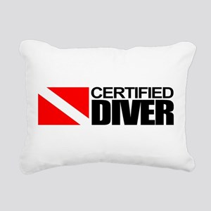 Certified Diver Rectangular Canvas Pillow