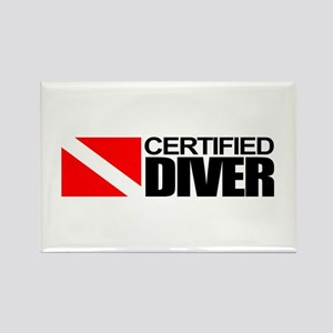 Certified Diver Rectangle Magnet