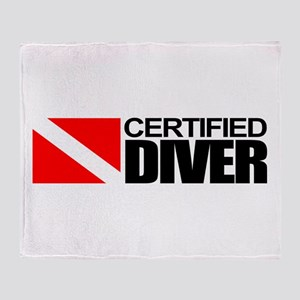 Certified Diver Throw Blanket
