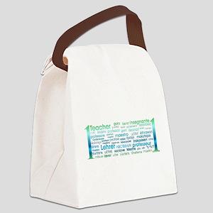 # 1 Teacher Canvas Lunch Bag