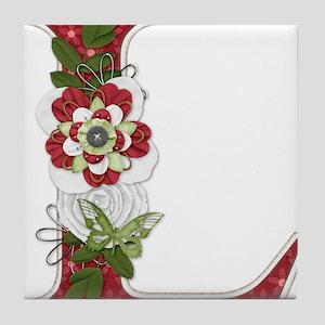 Monogram Letter L Tile Coaster