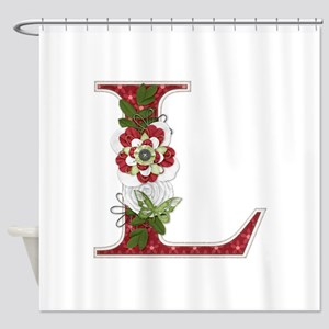 Monogram Letter L Shower Curtain