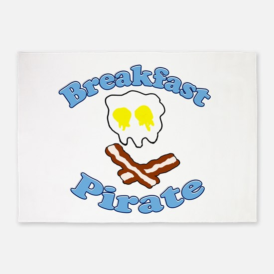 Breakfast Pirate 5'x7'Area Rug