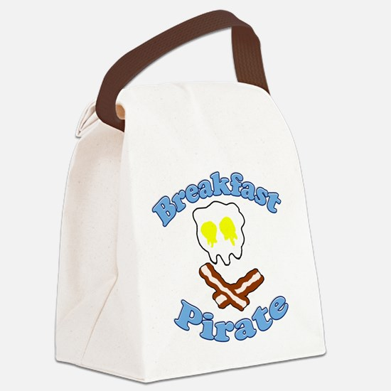 Breakfast Pirate Canvas Lunch Bag