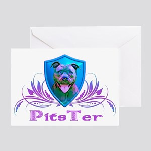 PitsTer, A Pit Bull Dog Lover Greeting Card