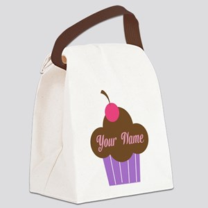 Personalized Cupcake Canvas Lunch Bag