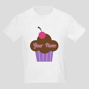 Personalized Cupcake Kids Light T-Shirt