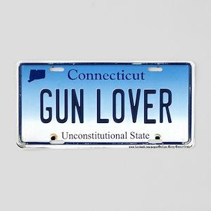 Connecticut Gun Lover Plate Aluminum License Plate