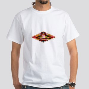 Southwest Indian Weaving White T-Shirt