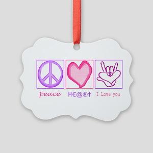 I love you - ASL Ornament