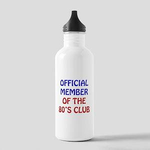 80th Birthday Official Member Stainless Water Bott