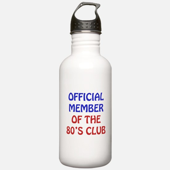 80th Birthday Official Member Water Bottle