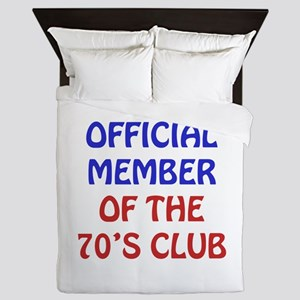 70th Birthday Official Member Queen Duvet