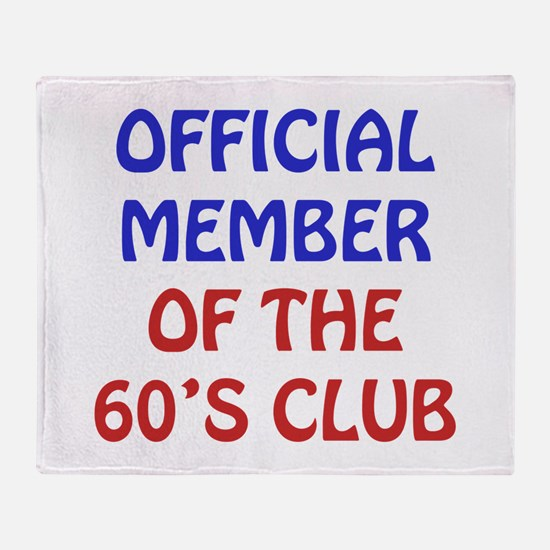 60th Birthday Official Member Throw Blanket