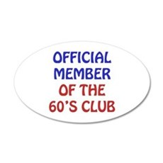 60th Birthday Official Member Wall Decal