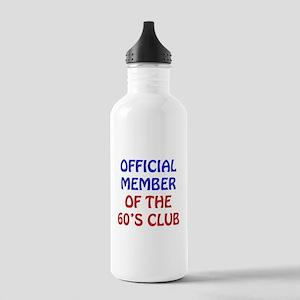 60th Birthday Official Member Stainless Water Bott