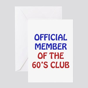 60th Birthday Official Member Greeting Card