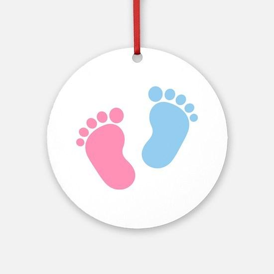 Baby feet Ornament (Round)