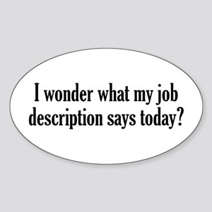 Job Description Sticker