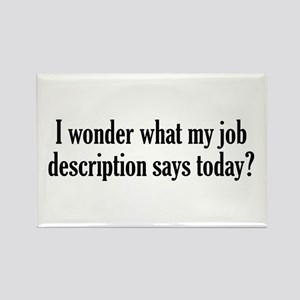 Job Description Rectangle Magnet