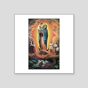 Guadalupe Defending the Child Sticker (Rectangular
