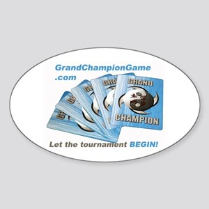 Grand Championc Oval Sticker