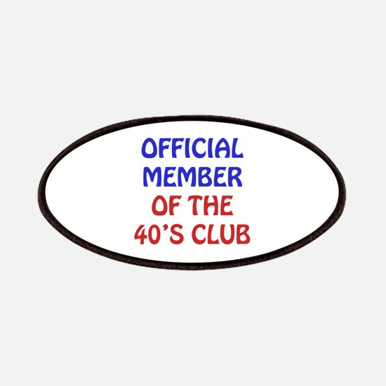 40th Birthday Official Member Patches