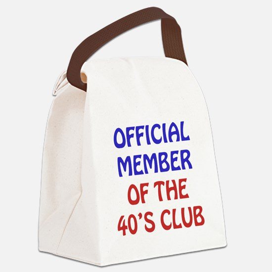 40th Birthday Official Member Canvas Lunch Bag
