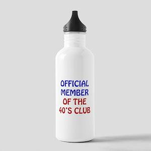 40th Birthday Official Member Stainless Water Bott