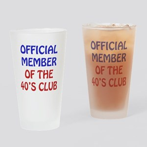 40th Birthday Official Member Drinking Glass