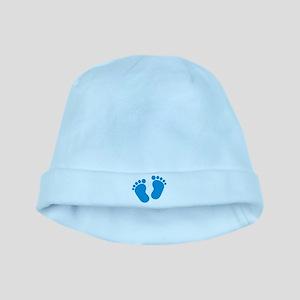Blue baby feet baby hat