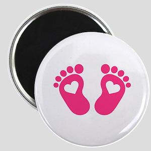 Baby feet hearts Magnet