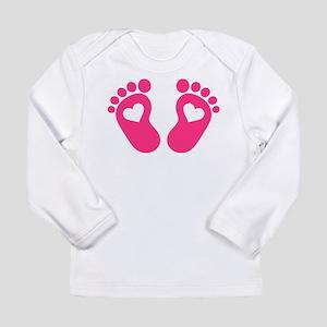 Baby feet hearts Long Sleeve Infant T-Shirt