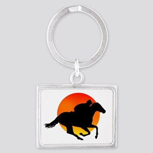 Horse Racing Landscape Keychain