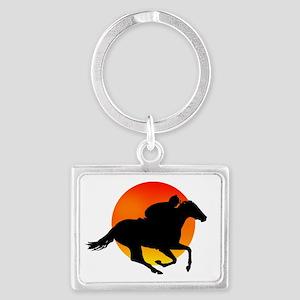 Horse Racing Landscape Keychain