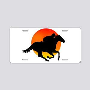 Horse Racing Aluminum License Plate