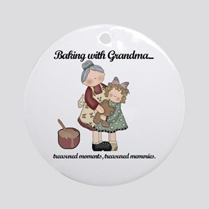 Baking with Grandma Ornament (Round)