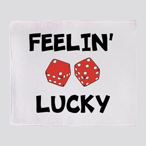 FEELIN LUCKY Throw Blanket