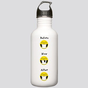 Smiley - before after Water Bottle