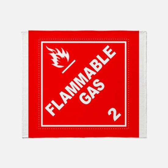 Flammable Gas Throw Blanket
