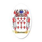 Boutflower Oval Car Magnet