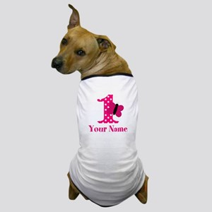 Pink Butterfly First Birthday Dog T-Shirt