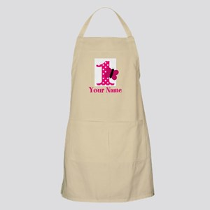 Pink Butterfly First Birthday Apron
