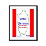 Reasoned Libertarian Revoluti Framed Panel Print