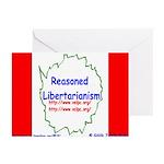 Reasoned Libertarian Revoluti Greeting Cards (Pack