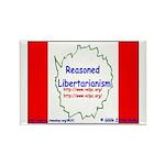 Reasoned Libertarian Revoluti Rectangle Magnet